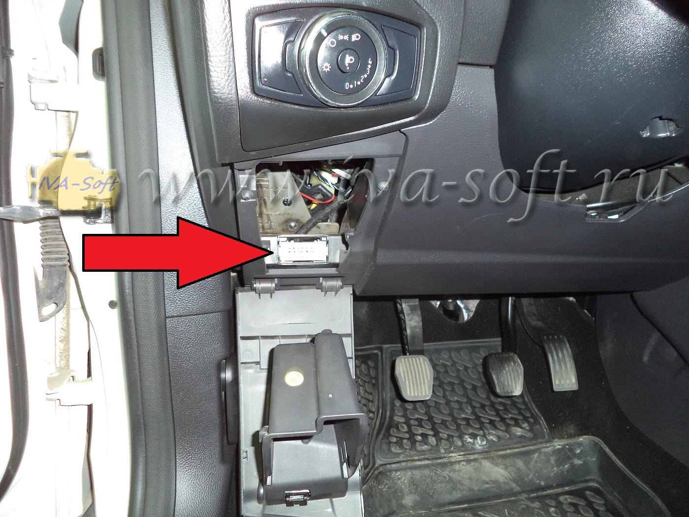 Где находится диагностический разъём на форд мондео 3